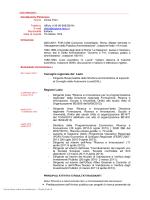 Curriculum professionale - Consiglio Regionale del Lazio