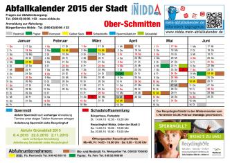 Abfallkalender 2015 der Stadt