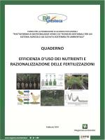 Efficienza dei nutrienti e razionalizzazione delle