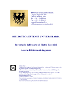 Download (PDF, 27p, 1mb) - Biblioteca estense universitaria, Modena