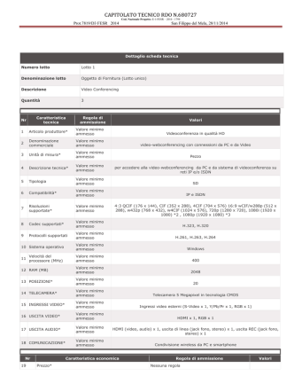 CAPITOLATO TECNICO RDO N.680527