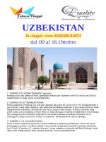 UZBEKISTAN - Feluca Viaggi