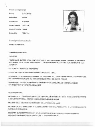 Curriculum Vitae Elena Biscu