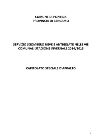 Capitolato NEVE 2014-2015
