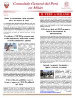 IL PERÙ A MILANO - Consulado General del Perú en Milán