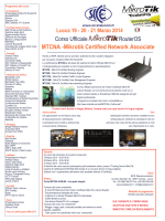 MTCNA -Mikrotik Certified Network Associate