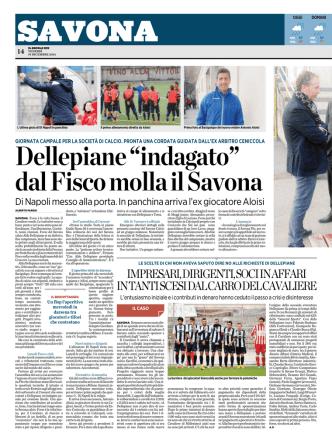 """Dellepiane """"indagato"""" dal Fisco molla il Savona"""