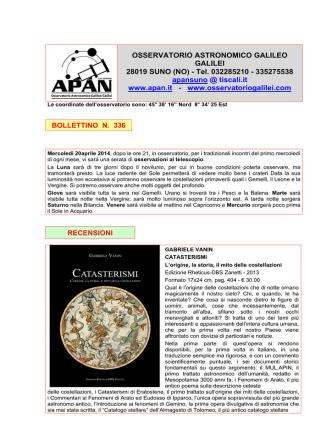 Bollettino 336 del 02-04-2014
