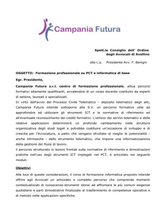 Convenzione Campania Futura SRL