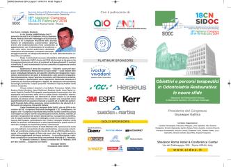 18CN SIDOC - Società Italiana Di Odontoiatria Conservativa