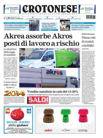 Akrea assorbe Akros posti di lavoro a rischio