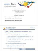 Accumuli elettrochimici: situazione normativa • la
