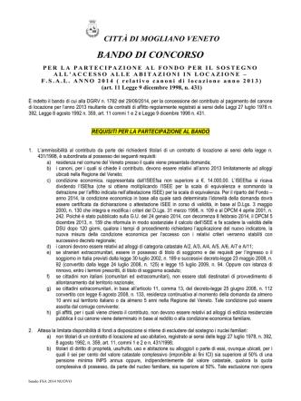 bando FSA 2014 NUOVO - Comune di Mogliano Veneto