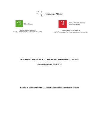 Bando DSU a.a. 2014-2015