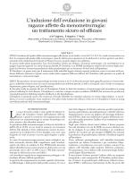 un trattamento sicuro ed efficace - Il bollettino di Ginecologia