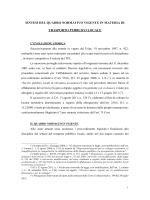 il quadro normativo vigente in materia di TPL