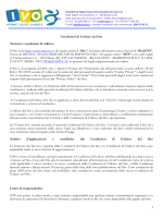 Condizioni di Utilizzo del Sito Termini e condizioni di utilizzo Il Sito