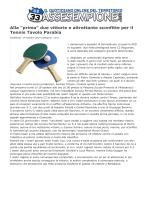 """""""prima"""" due vittorie e altrettante sconfitte per il Tennis Tavolo Parabia"""