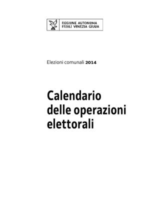 Calendario delle operazioni elettorali
