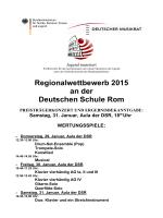 Regionalwettbewerb 2015