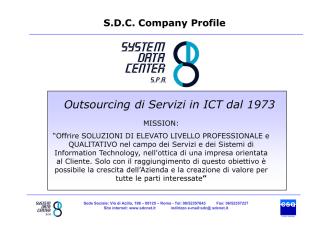 Company Presentation SDC 2014
