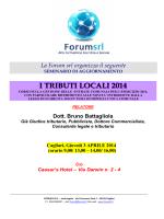 I TRIBUTI LOCALI 2014 - Ordine degli Avvocati di Cagliari