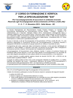 Bando e programma del corso - Commissione Escursionismo VFG