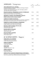ANTIPASTI / Vorspeisen LE NOSTRE ZUPPE / Suppen