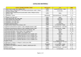 CATALOGO MATERIALI EST - Centro Studi per la Famiglia