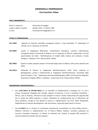 CV Emanuela Formaggio Ita (pdf, it, 246 KB, 8/6/14)