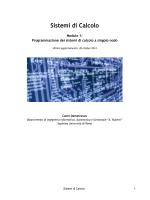 Sistemi di Calcolo - Dipartimento di Informatica e Sistemistica