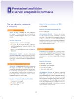 erogabili in Farmacia 3 Prestazioni analitiche e servizi erogabili in