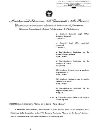 bando di concorso - Ufficio scolastico regionale per la Lombardia