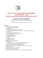 Programma - Sapienza - Università di Roma
