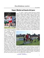 Arcobaleno news numero 4 - asd Gruppo podistico arcobaleno