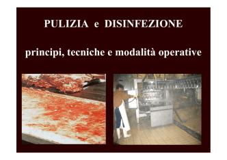 (1. Mario Stanga Pulizia e Disinfezione. Principi tecniche e