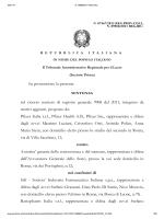 La sentenza del Tar Lazio - Il sole 24 Ore
