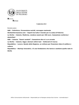 163. rassegna stampa 9 settembre 2014