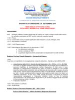 GIORNATA DI FORMAZIONE 20 SETTEMBRE 2014 I BES (EES per