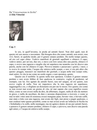 """Da """"Conversazione in Sicilia"""" di Elio Vittorini Cap"""