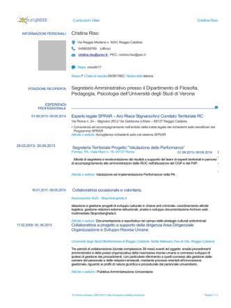 Curriculum vitae (pdf, it, 225 KB, 6/12/14)