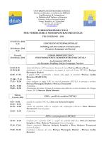 Programma corso formatori 2014 - DITALS