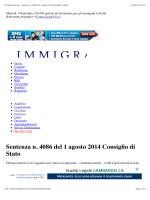 Immigrazione.biz - Sentenza n. 4086 del 1 agosto
