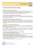 COMUNICAZIONE INTEGRATA DI ATENEO