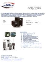 Brochure Serie Antares (PDF)