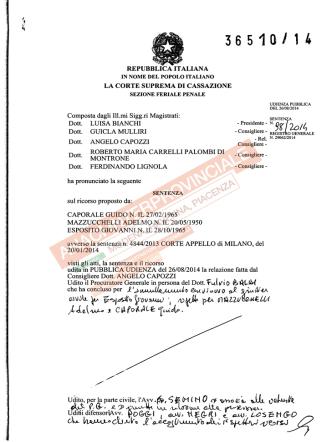2014-09-01-Cassazione-Penale-n-36510-coordinatore