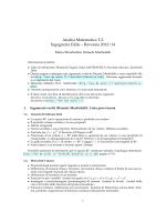 Lista argomenti svolti ed esercizi (versione 31 maggio 2014)