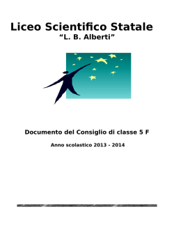 "documento cdc 5f 2014 - Liceo Scientifico ""LB Alberti"""