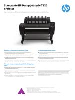 Stampante HP Designjet serie T920 ePrinter