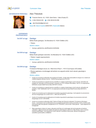 CV Theodule - Fondazione Montagna Sicura